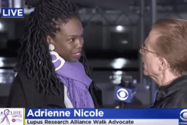 Adrienne on CBS-NY for Annual Lupus Walk